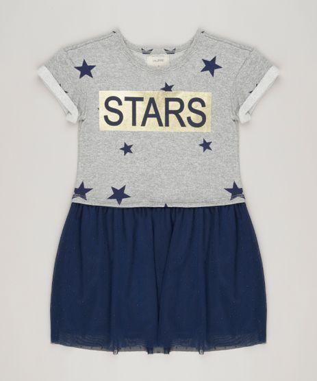 Vestido--Stars--com-tule-estampado-de-estrelas-Cinza-Mescla-9069674-Cinza_Mescla_1