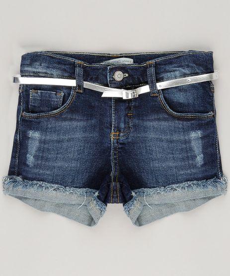 Short--Jeans-Destroyed-com-Cinto-Azul-Escuro-9035500-Azul_Escuro_1