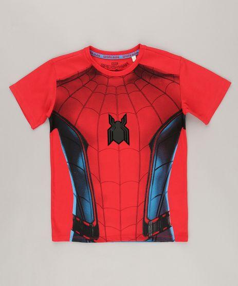 Camiseta-Homem-Aranha-Estampada-frente-e-costas-Vermelha-9041801-Vermelho_1