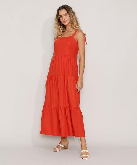 Vestido-Feminino-Longo-com-Recortes-Alca-Laco-Cobre-9976764-Cobre_1