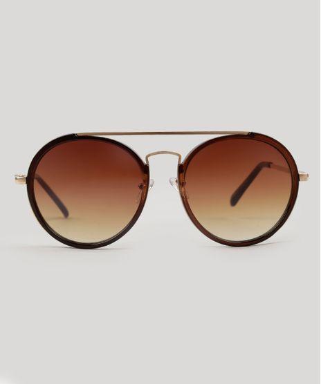 Oculos-de-Sol-Redondo-Feminino-Oneself-marrom-9124753-Marrom_1