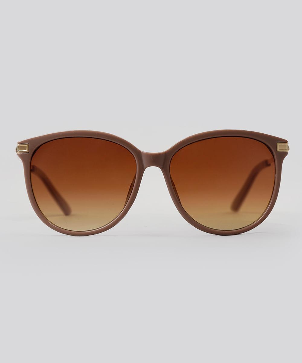 Óculos de Sol Redondo Feminino Oneself Rosê - ceacollections d24568fc6f