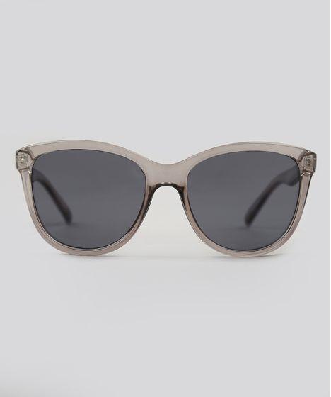 758e6d6d8fe6b Óculos de Sol Quadrado Feminino Oneself Transparente - cea