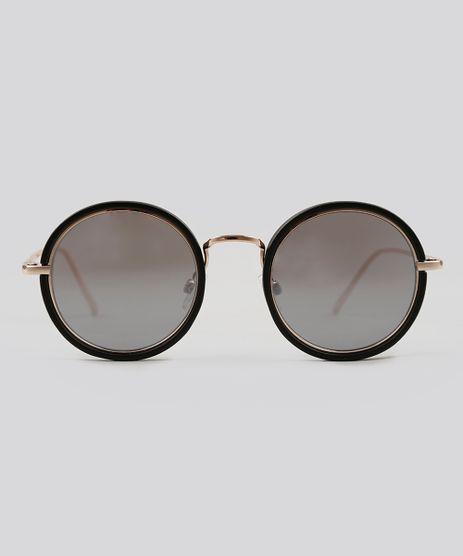 Oculos-de-Sol-Redondo-Feminino-Oneself-Dourado-9124750-Dourado_1