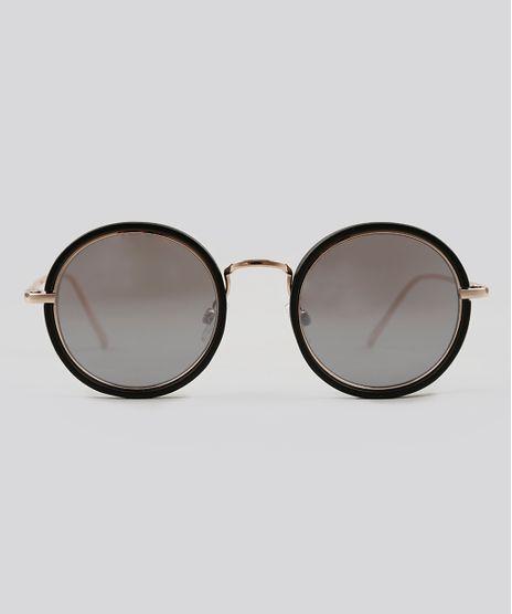 Oculos-de-Sol-Redondo-Feminino-Oneself-Dourado-9124750- 0be2e64f60
