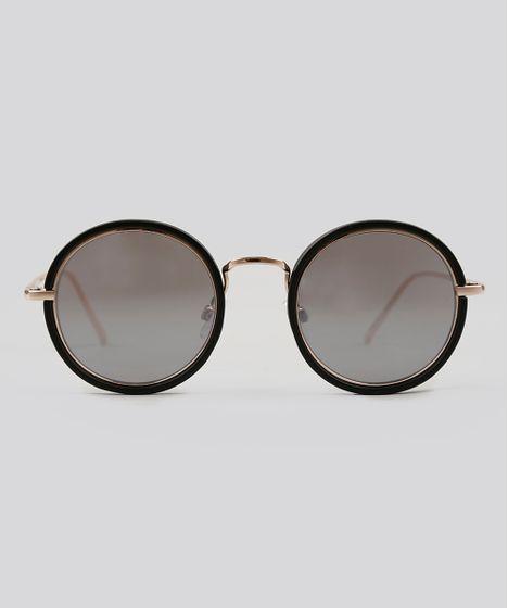 2a791e1f634e0 Oculos-de-Sol-Redondo-Feminino-Oneself-Dourado-9124750- ...