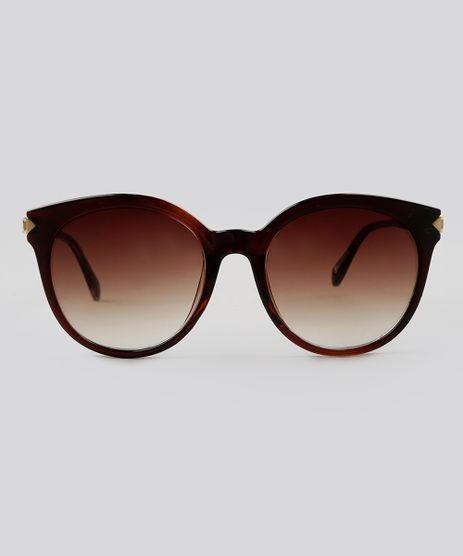 Oculos-de-Sol-Redondo-Feminino-Oneself-Marrom-9124735-Marrom_1