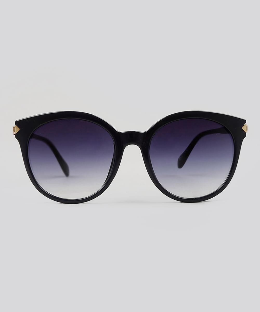 Óculos de Sol Redondo Feminino Oneself Azul Marinho - ceacollections 0762d66b2c