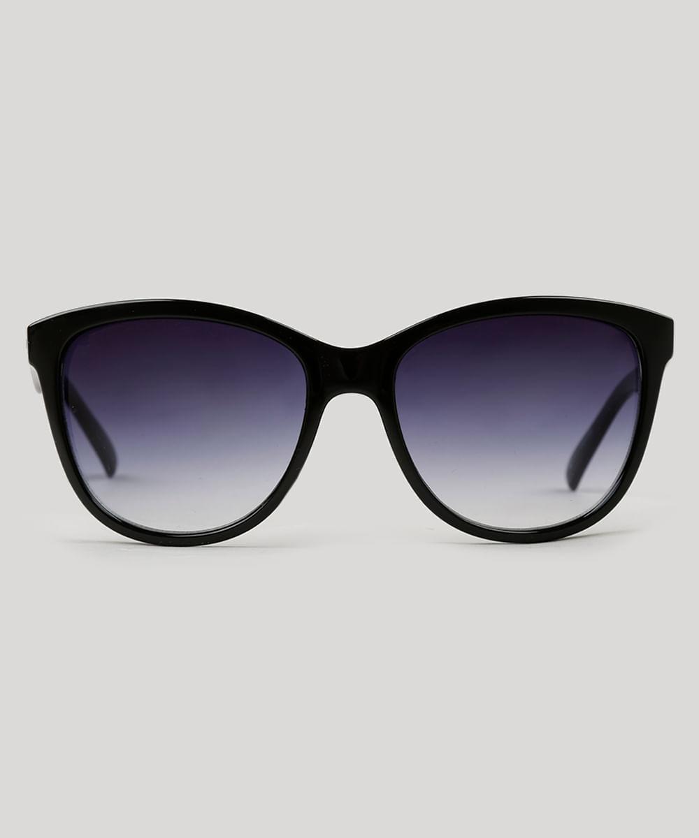 ca95dbc66a3b9 Óculos de Sol Redondo Feminino Oneself preto - Único