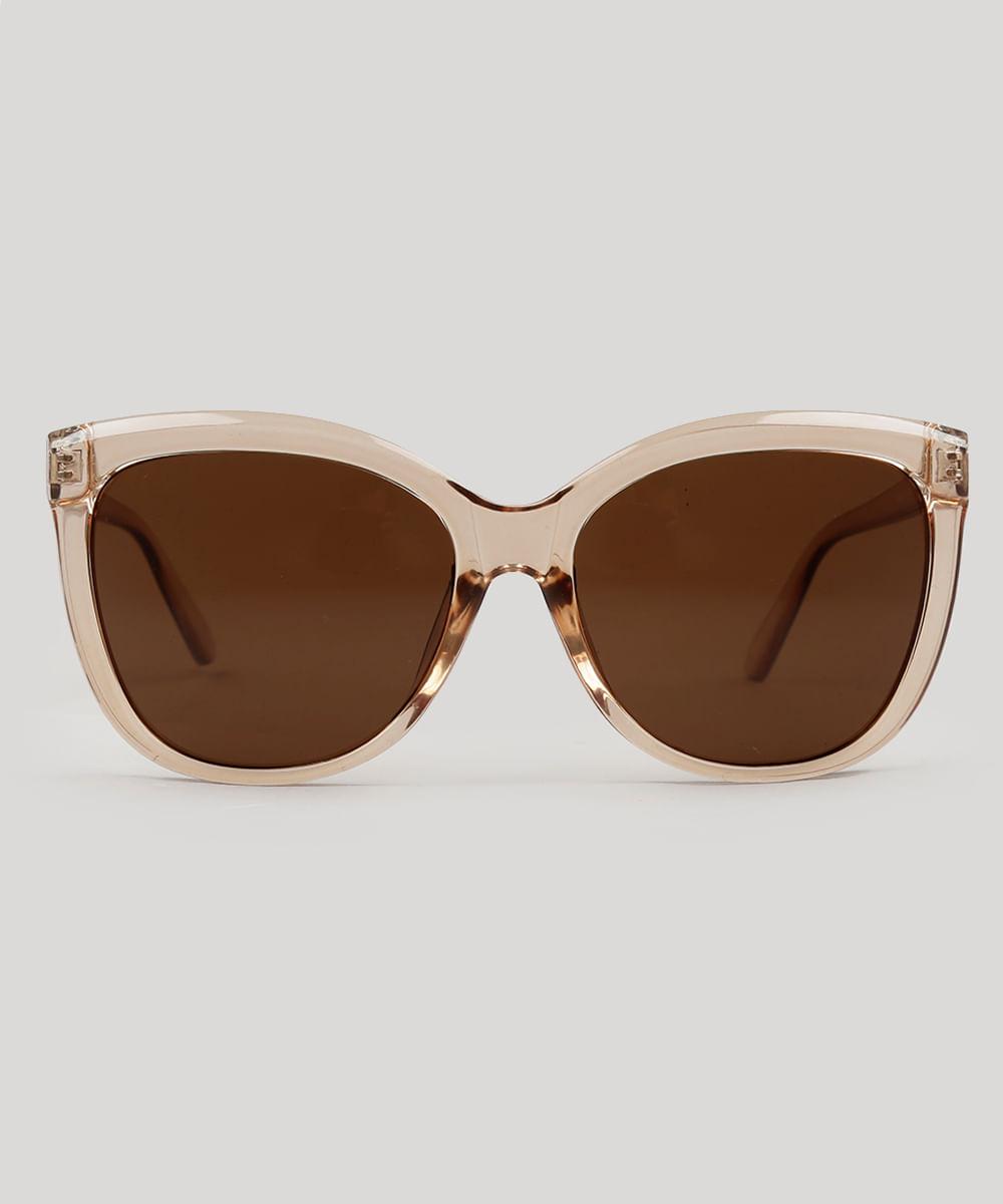 0c425b802d Óculos de Sol Quadrado Feminino Oneself Transparente - ceacollections