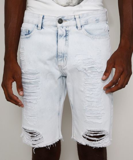 Bermuda-Jeans-Masculina-Slim-Destroyed-Marmorizada-Azul-Claro-9971324-Azul_Claro_1