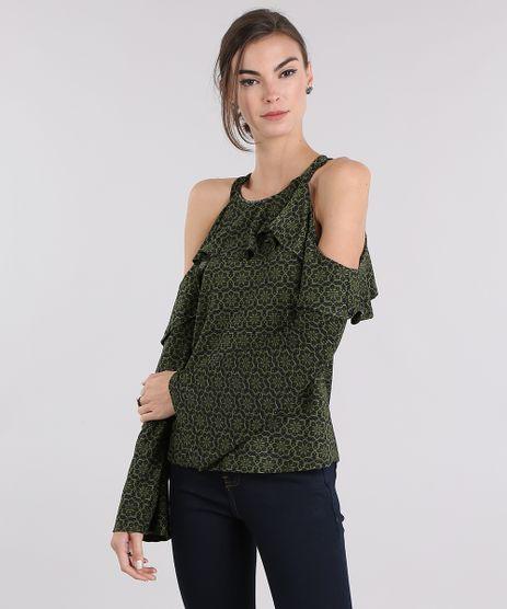 Blusa-Estampada-floral-Open-Shoulder-com-Babado-Verde-Militar-8986220-Verde_Militar_1