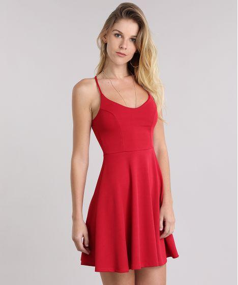 b42a360ec Vestido-Evase-Vermelho-9001163-Vermelho 1 ...