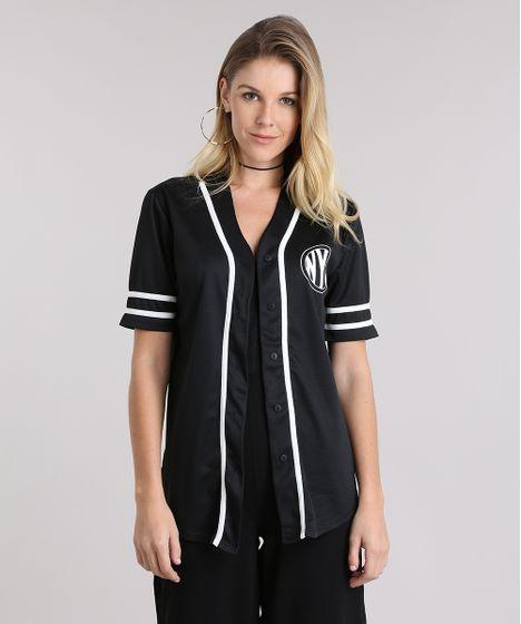 cea · Moda Feminina · Camisas. Camisa--Baseball--Preta-9046946-Preto 1 ... 16e72b41bf7