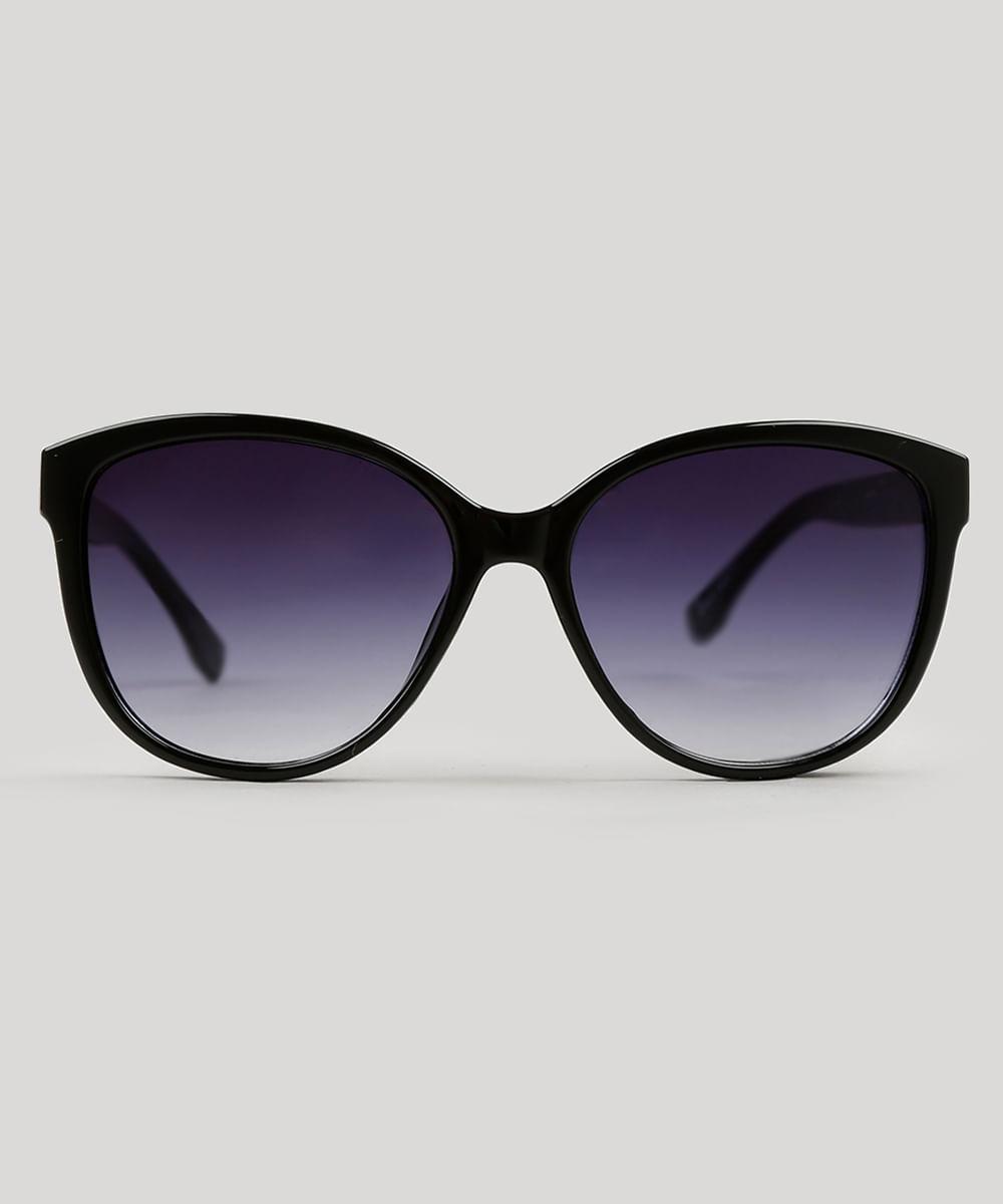 Óculos de Sol Redondo Feminino Oneself preto - ceacollections 6f568745d2