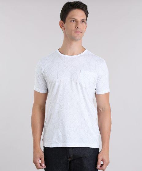 Camiseta-Estampada-de-Folhagem-com-Bolso-Branca-8708687-Branco_1