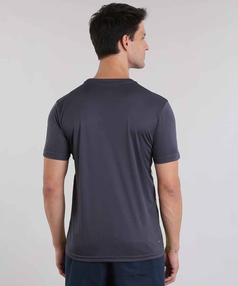 a2b6772851 Camiseta Ace de Treino com Listras Laterais Azul Marinho - cea