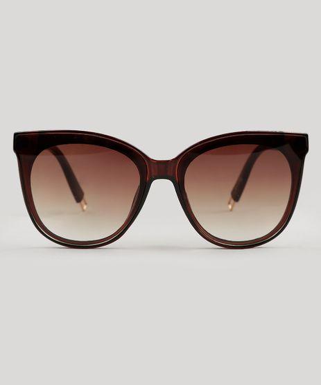 Oculos-de-Sol-Redondo-Feminino-Oneself-marrom-9124717- 2b51d551ba
