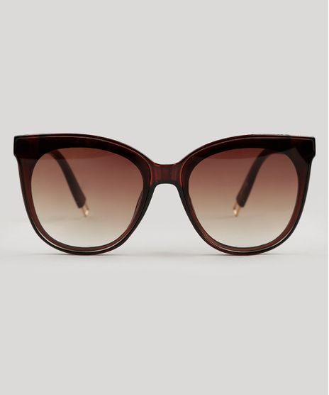 Oculos-de-Sol-Redondo-Feminino-Oneself-marrom-9124717- 52b8c22bc5