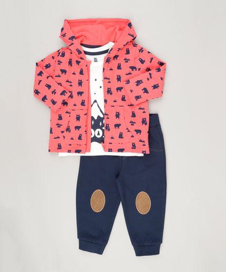 Conjunto-de-Camiseta-Off-White---Blusao-Estampado-Vermelho---Calca-em-Moletom-de-Algodao---Sustentavel-Azul-Marinho-8787351-Azul_Marinho_1