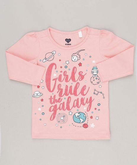 Blusa--Girls-Rule-The-Galaxy--com-Glitter-em-Algodao---Sustentavel-Rosa-9043777-Rosa_1