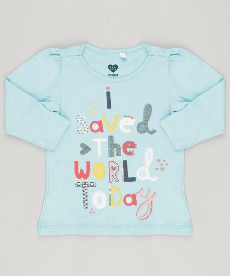 Blusa--Saved-The-World-Today--com-Glitter-em-Algodao---Sustentavel-Azul-Claro-9043781-Azul_Claro_1