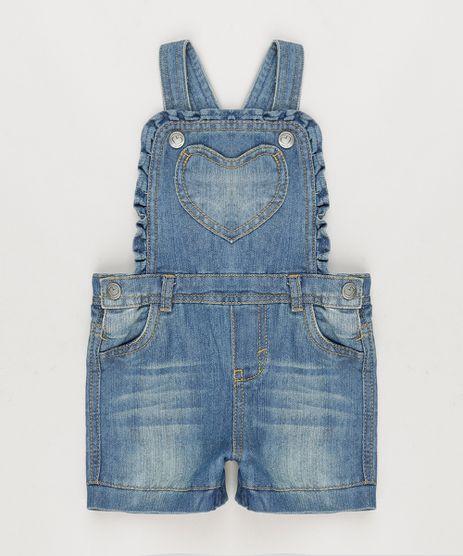 Jardineira-Jeans-com-Babados-em-Algodao---Sustentavel-Azul-Escuro-8773641-Azul_Escuro_1