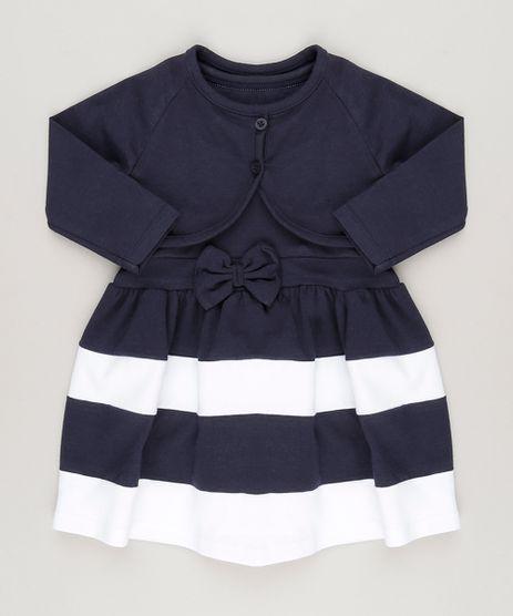 Vestido-com-Laco---Bolero-em-Algodao---Sustentavel-Azul-Marinho-9048216-Azul_Marinho_1