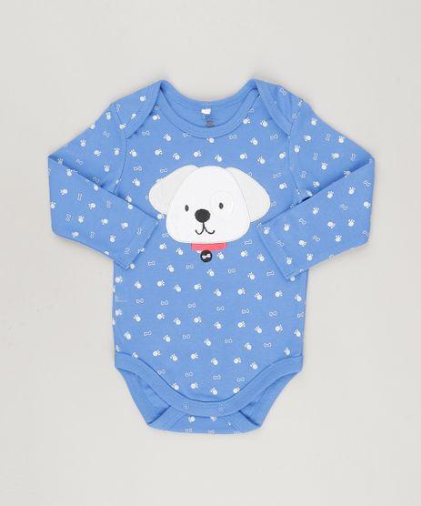 Body-Cachorrinho-Estampado-em-Algodao---Sustentavel-Azul-8802983-Azul_1