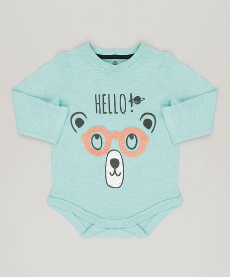 Body-Infantil-Urso-com-Oculos-Interativo-Manga-Longa-em-Algodao---Sustentavel-Verde-Claro-8880234-Verde_Claro_1