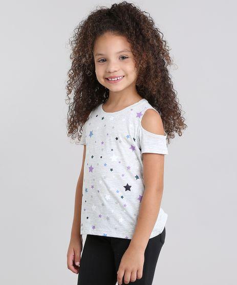 Blusa-Infantil-Open-Shoulder-com-Estampa-de-Estrelas-Manga-Curta-Cinza-Mescla-Claro-9108911-Cinza_Mescla_Claro_1