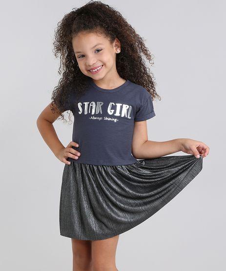 Vestido-infantil---Star-Girl--com-Lurex-Manga-Curta-Chumbo-9041152-Chumbo_1