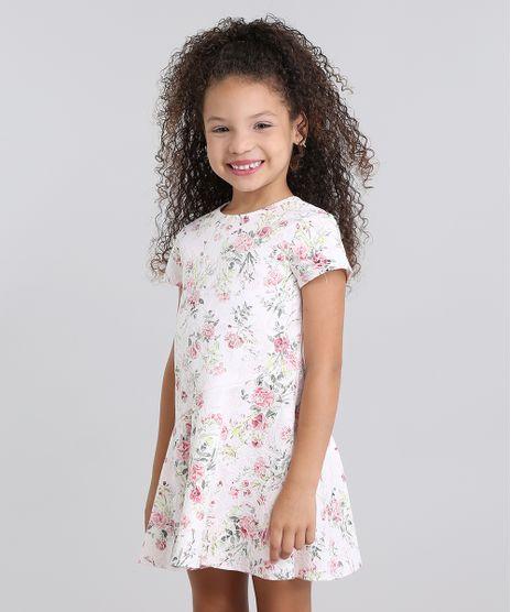 Vestido-Infantil--Estampado-Floral-em-Jacquard-Manga-Curta-Rosa-Claro-8821839-Rosa_Claro_1