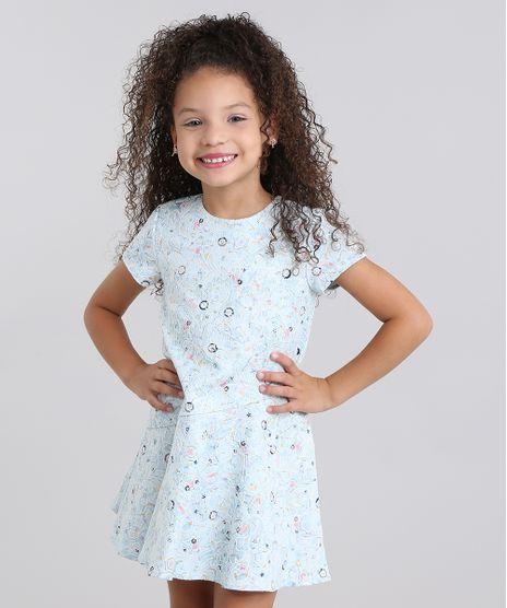 Vestido-Infantil--Estampado-Floral-em-Jacquard-Manga-Curta-Azul-Claro-8821832-Azul_Claro_1
