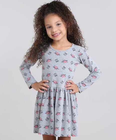 Vestido-Infantil-Estampado-Gola-Redonda-Manga-Longa-em-Algodao---sustentavel-Cinza-Mescla-9048466-Cinza_Mescla_1
