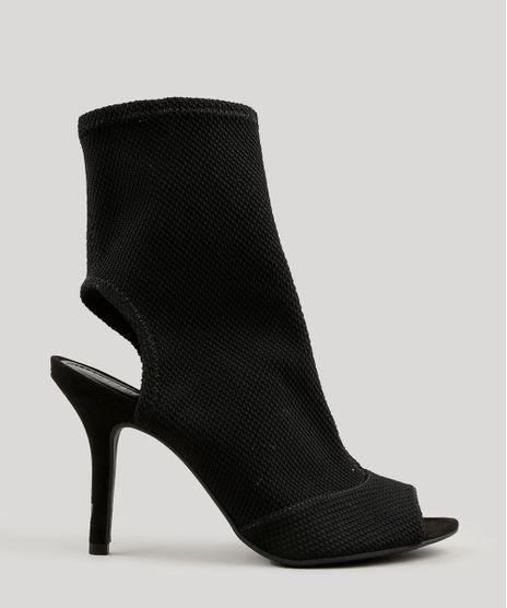 Bota-Meia-Feminina-Ankle-Boot-Salto-Medio-Preta-9065139-Preto_1