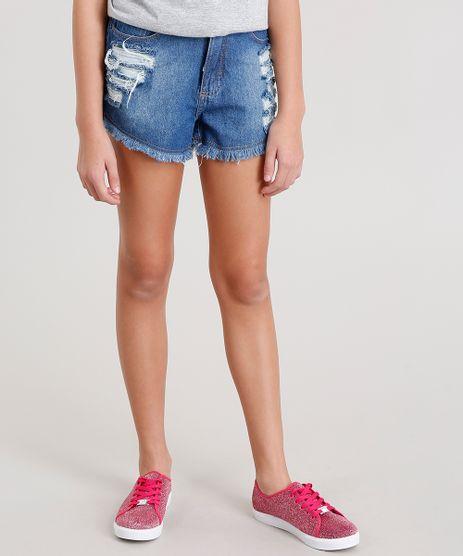 Short-Jeans-Infantil-Destroyed-Azul-Medio-8555581-Azul_Medio_1