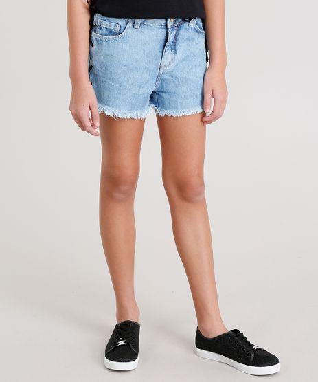 Short-Jeans-Infantil-com-Ilhos-e-Amarracao-Azul-Medio-9046216-Azul_Medio_1