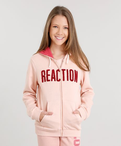 Blusao-Infantil-em-Moletom--Reaction--com-Capuz-Rose-8830645-Rose_1