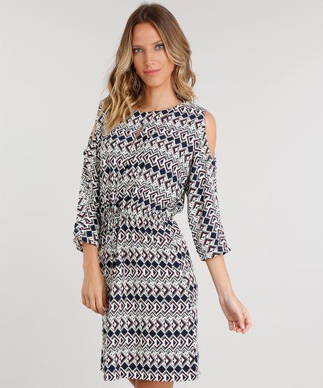 Vestido-Feminino-Open-Shoulder-Estampado-Geometrico-Curto-Bege-8886730-Bege_1
