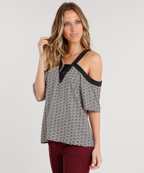Blusa-Feminina-Open-Shoulder-Estampada-Geometrica-Manga-Curta-Decote-V-Rose-8881346-Rose_1