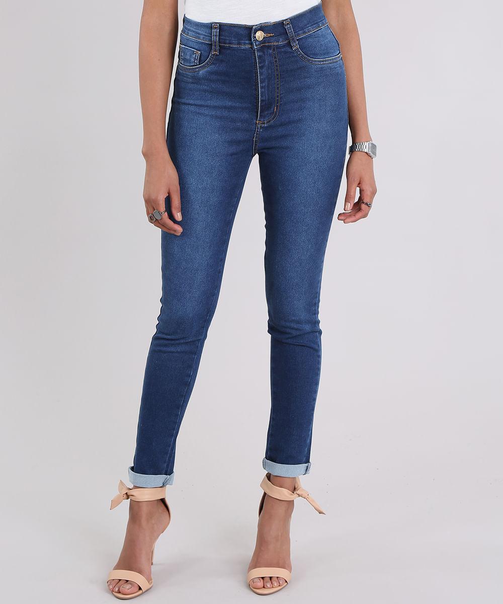 8ab2019b9 Calça Jeans Sawary Super Skinny Azul Médio - ceacollections