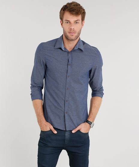 Camisa-Masculina-Slim-Listrada-Manga-Longa-Azul-Marinho-8851776-Azul_Marinho_1