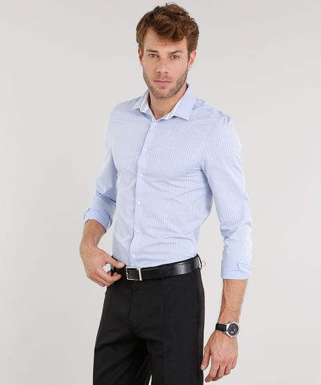 Camisa-Masculina-Slim-Listrada-Manga-Longa-Azul-Claro-8858195-Azul_Claro_1