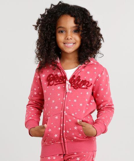 Blusao-Infantil-em-Moletom-Estampado-de-Estrelas-com-Bordado-e-Capuz-Rosa-Escuro-8871198-Rosa_Escuro_1