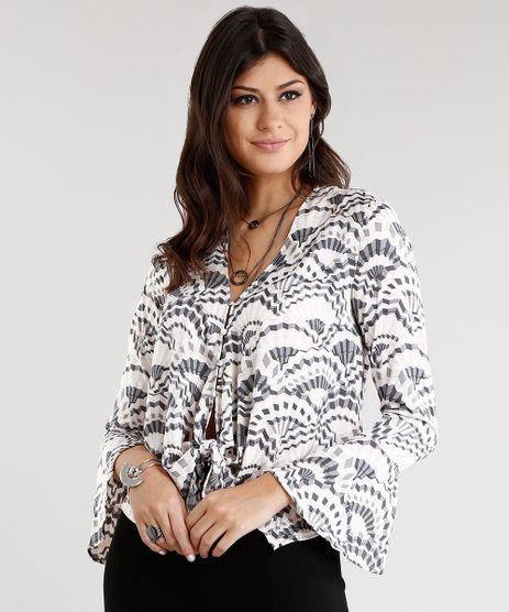 Camisa-Feminina-Acetinada-Estampada-Geometrica-com-Amarracao--Manga-Longa-Rose-8886916-Rose_1