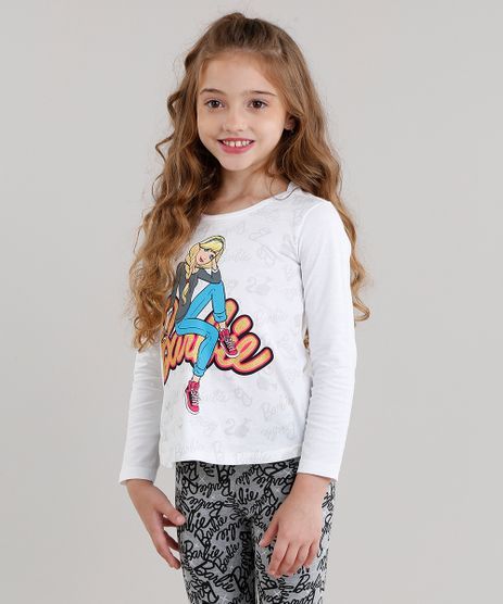 Blusa-Infantil-Barbie-Manga-Longa-Decote-Redondo-em-Algodao---Sustentavel-Off-White-9043933-Off_White_1