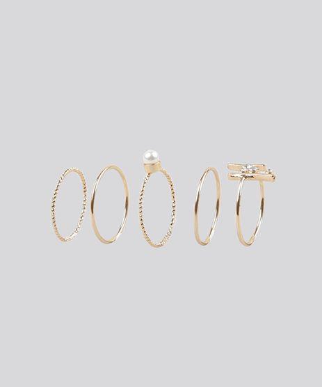 Kit-de-5-Aneis-Dourado-8838996-Dourado_1