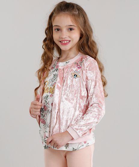 Jaqueta-Infantil-Bomber-em-Veludo-com-Bordado-Floral-Manga-Longa-Rose-9048073-Rose_1