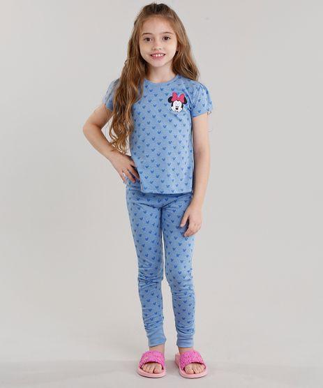 Pijama-Infantil-Estampado-Minnie-Manga-Curta-Azul-9045377-Azul_1